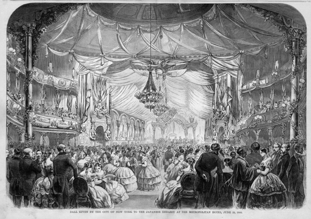metropolitan hotel japanese embassy dinner 1860